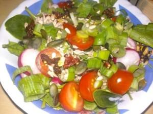 1.den večeře salát